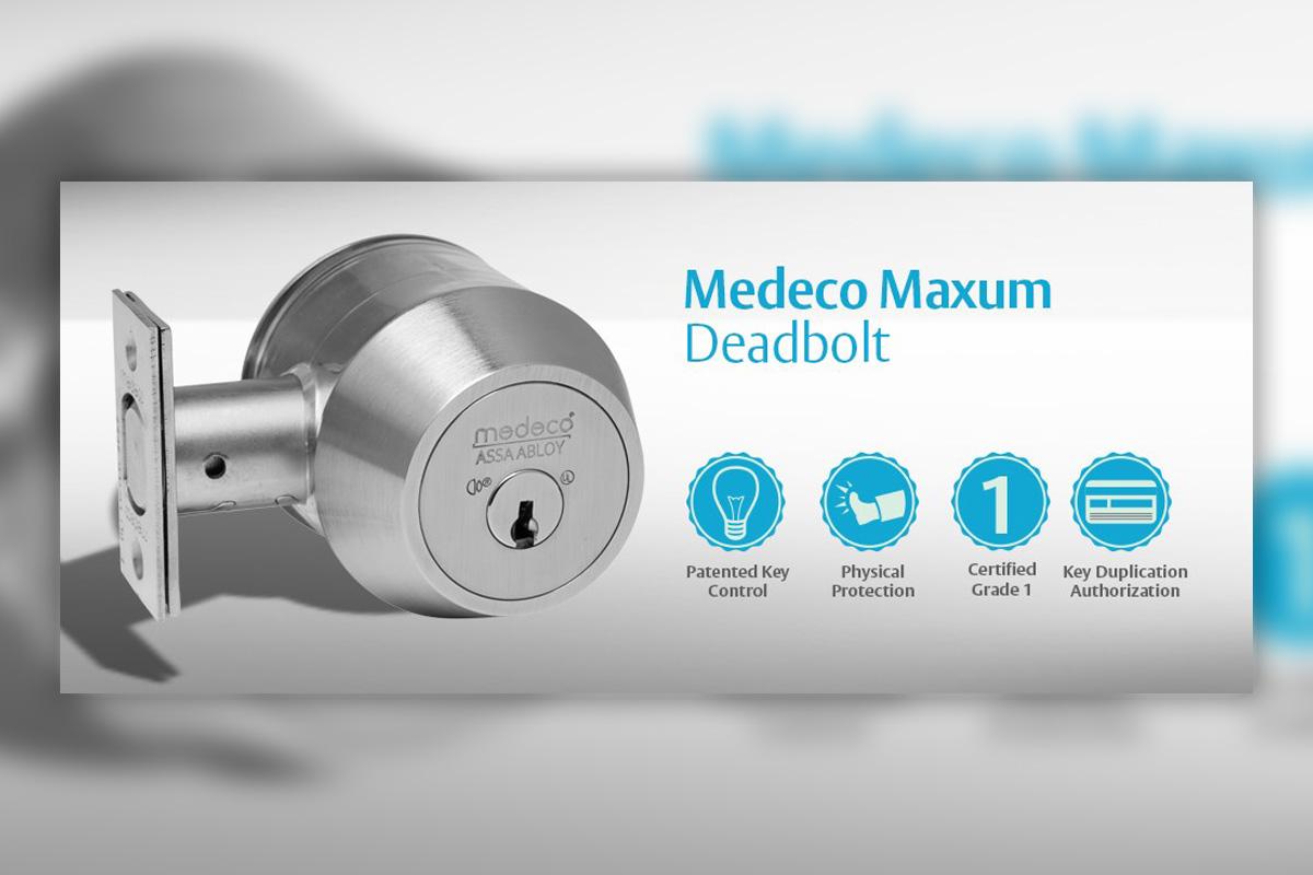 Graphic of a Medeco Maxum Deadbolt